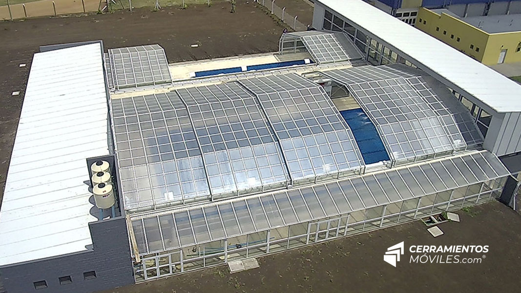 Realizamos el Primer complejo de piletas climatizadas auto sustentables de la Provincia de Buenos Aires en Benito Juárez.