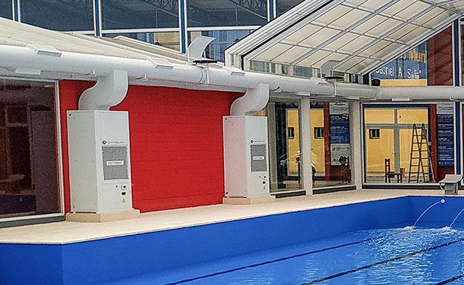 deshumectacion de piletas sin humedad natatorios climatizacion pileta ideal